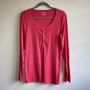 Time and Tru Coral Lightweight Thermal Top